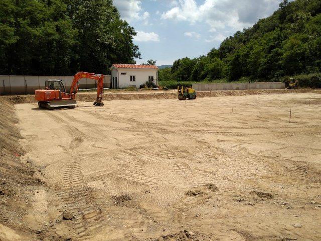 Excavació bassa per al filtre verd