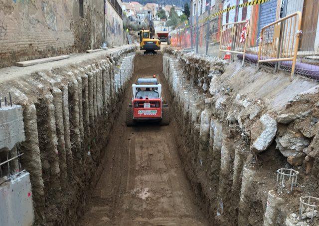 Excavació del calaix Etapa 1